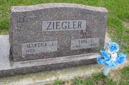 ZIEGLER, MARTHA J. - Hutchinson County, South Dakota | MARTHA J. ZIEGLER - South Dakota Gravestone Photos