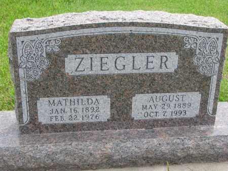 ZIEGLER, MATHILDA - Hutchinson County, South Dakota | MATHILDA ZIEGLER - South Dakota Gravestone Photos