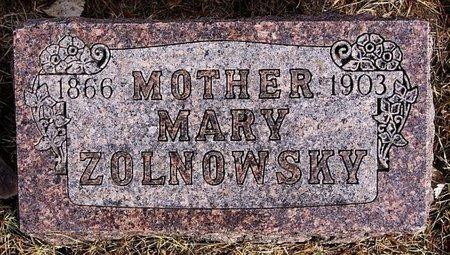 ZOLNOWSKY, MARY - Hutchinson County, South Dakota | MARY ZOLNOWSKY - South Dakota Gravestone Photos