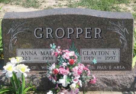 GROPPER, CLAYTON  V. - Jackson County, South Dakota   CLAYTON  V. GROPPER - South Dakota Gravestone Photos