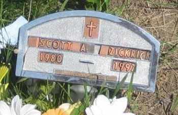 ZICKRICK, SCOTT  A. - Jackson County, South Dakota | SCOTT  A. ZICKRICK - South Dakota Gravestone Photos