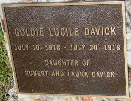 DAVICK, GOLDIE LUCILE - Jerauld County, South Dakota | GOLDIE LUCILE DAVICK - South Dakota Gravestone Photos