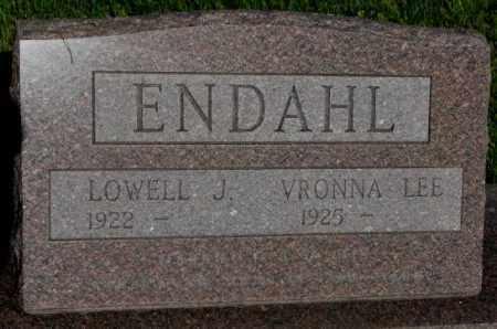 ENDAHL, VRONNA LEE - Jerauld County, South Dakota | VRONNA LEE ENDAHL - South Dakota Gravestone Photos