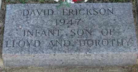 ERICKSON, DAVID - Jerauld County, South Dakota | DAVID ERICKSON - South Dakota Gravestone Photos