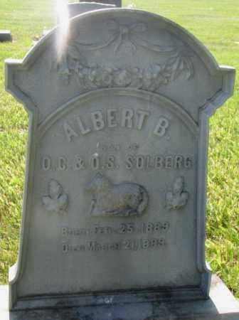 SOLBERG, ALBERT B. - Jerauld County, South Dakota | ALBERT B. SOLBERG - South Dakota Gravestone Photos
