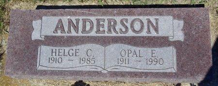 ANDERSON, HELGE - Jones County, South Dakota | HELGE ANDERSON - South Dakota Gravestone Photos