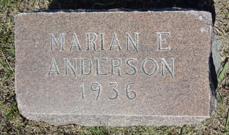 ANDERSON, MARIAN - Jones County, South Dakota   MARIAN ANDERSON - South Dakota Gravestone Photos