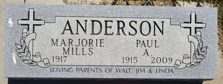 MILLS ANDERSON, MARJORIE - Jones County, South Dakota | MARJORIE MILLS ANDERSON - South Dakota Gravestone Photos