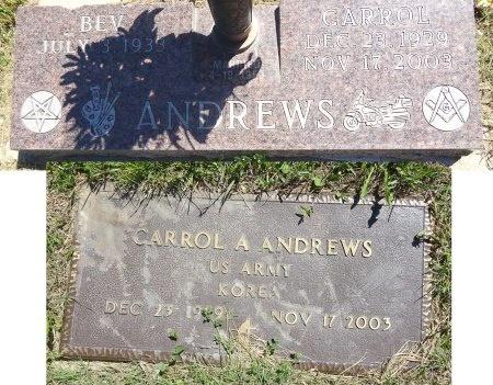 ANDREWS, CARROL - Jones County, South Dakota | CARROL ANDREWS - South Dakota Gravestone Photos