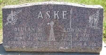 ASKE, EDWIN - Jones County, South Dakota | EDWIN ASKE - South Dakota Gravestone Photos