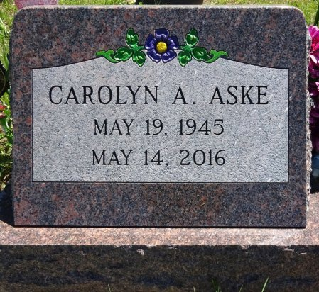 ASKE, CAROLYN - Jones County, South Dakota | CAROLYN ASKE - South Dakota Gravestone Photos