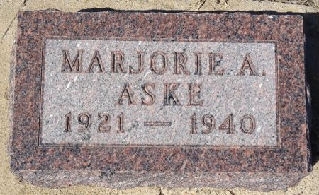 ASKE, MARJORIE - Jones County, South Dakota   MARJORIE ASKE - South Dakota Gravestone Photos