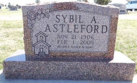 ASTLEFORD, SYBIL - Jones County, South Dakota | SYBIL ASTLEFORD - South Dakota Gravestone Photos