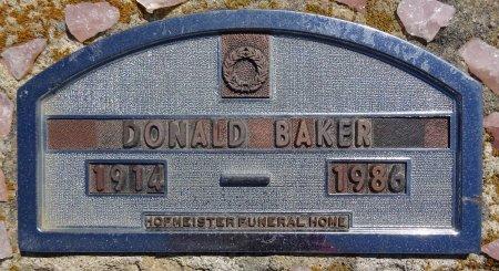 BAKER, DONALD - Jones County, South Dakota | DONALD BAKER - South Dakota Gravestone Photos