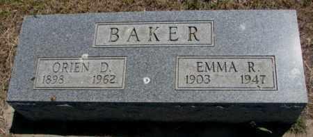 BAKER, ORIEN D. - Jones County, South Dakota | ORIEN D. BAKER - South Dakota Gravestone Photos