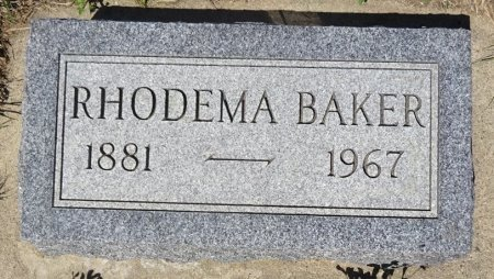 BAKER, RHODEMA - Jones County, South Dakota | RHODEMA BAKER - South Dakota Gravestone Photos