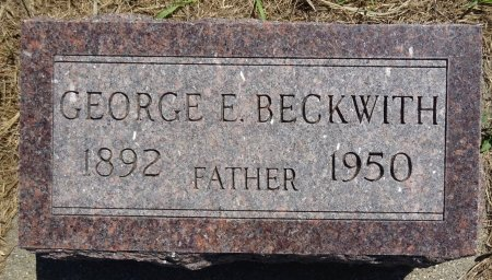 BECKWITH, GEORGE - Jones County, South Dakota | GEORGE BECKWITH - South Dakota Gravestone Photos