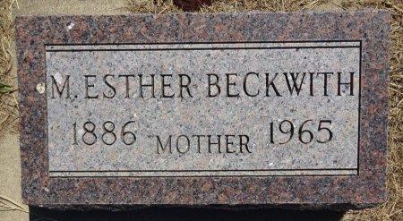 BECKWITH, M. ESTHER - Jones County, South Dakota | M. ESTHER BECKWITH - South Dakota Gravestone Photos