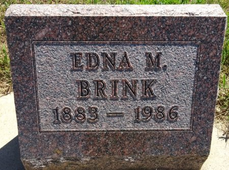 BRINK, EDNA - Jones County, South Dakota | EDNA BRINK - South Dakota Gravestone Photos