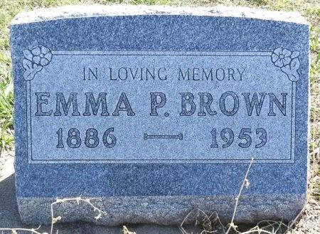 BROWN, EMMA P. - Jones County, South Dakota | EMMA P. BROWN - South Dakota Gravestone Photos