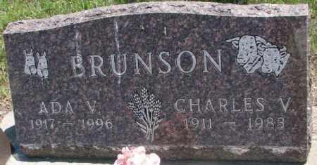 BRUNSON, CHARLES V. - Jones County, South Dakota | CHARLES V. BRUNSON - South Dakota Gravestone Photos