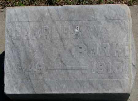 BURKE, CHARLES W. - Jones County, South Dakota | CHARLES W. BURKE - South Dakota Gravestone Photos
