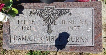 BURNS, RAMAH - Jones County, South Dakota | RAMAH BURNS - South Dakota Gravestone Photos