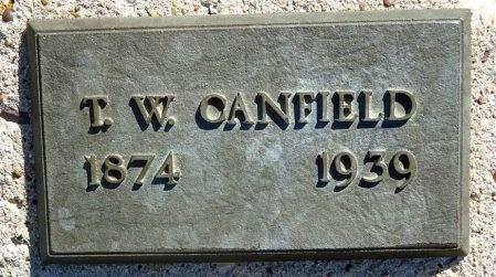 CANFIELD, T.W. - Jones County, South Dakota | T.W. CANFIELD - South Dakota Gravestone Photos
