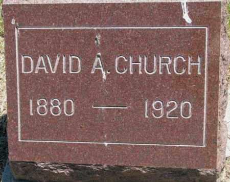 CHURCH, DAVID A. - Jones County, South Dakota   DAVID A. CHURCH - South Dakota Gravestone Photos