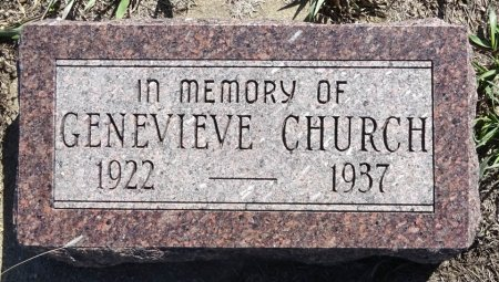 CHURCH, GENEVIEVE - Jones County, South Dakota | GENEVIEVE CHURCH - South Dakota Gravestone Photos