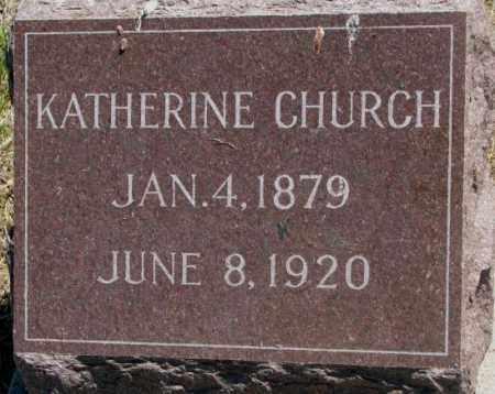CHURCH, KATHERINE - Jones County, South Dakota | KATHERINE CHURCH - South Dakota Gravestone Photos