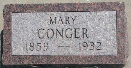 CONGER, MARY - Jones County, South Dakota   MARY CONGER - South Dakota Gravestone Photos