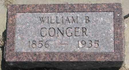 CONGER, WILLIAM B. - Jones County, South Dakota | WILLIAM B. CONGER - South Dakota Gravestone Photos