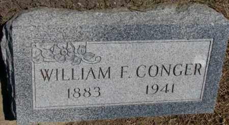 CONGER, WILLIAM F. - Jones County, South Dakota | WILLIAM F. CONGER - South Dakota Gravestone Photos
