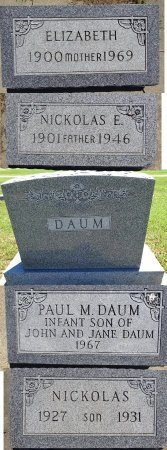 DAUM, ELIZABETH - Jones County, South Dakota | ELIZABETH DAUM - South Dakota Gravestone Photos