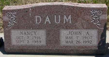 DAUM, JOHN A. - Jones County, South Dakota | JOHN A. DAUM - South Dakota Gravestone Photos