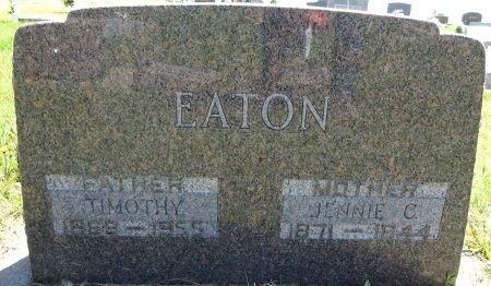 EATON, JENNIE - Jones County, South Dakota | JENNIE EATON - South Dakota Gravestone Photos