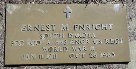 ENRIGHT, ERNEST - Jones County, South Dakota | ERNEST ENRIGHT - South Dakota Gravestone Photos