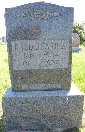 FARRIS, FRED - Jones County, South Dakota | FRED FARRIS - South Dakota Gravestone Photos