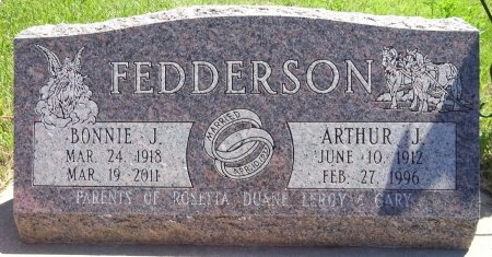 FEDDERSON, ARTHUR - Jones County, South Dakota | ARTHUR FEDDERSON - South Dakota Gravestone Photos