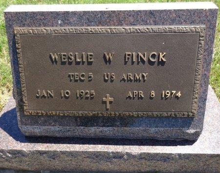 FINCK, WESLIE - Jones County, South Dakota   WESLIE FINCK - South Dakota Gravestone Photos