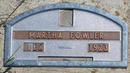 FOWLER, MARTHA - Jones County, South Dakota | MARTHA FOWLER - South Dakota Gravestone Photos