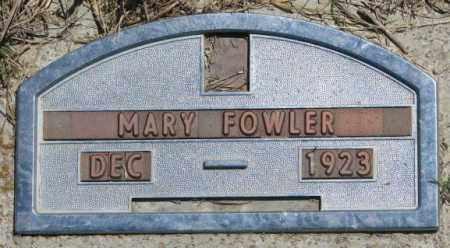 FOWLER, MARY - Jones County, South Dakota | MARY FOWLER - South Dakota Gravestone Photos