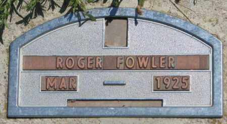 FOWLER, ROGER - Jones County, South Dakota | ROGER FOWLER - South Dakota Gravestone Photos