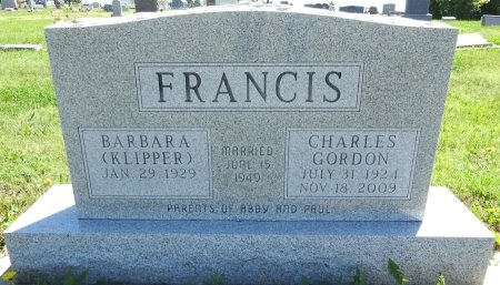 KLIPPER FRANCIS, BARBARA - Jones County, South Dakota | BARBARA KLIPPER FRANCIS - South Dakota Gravestone Photos