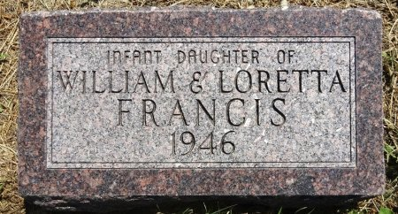 FRANCIS, INFANT DAUGHTER - Jones County, South Dakota | INFANT DAUGHTER FRANCIS - South Dakota Gravestone Photos