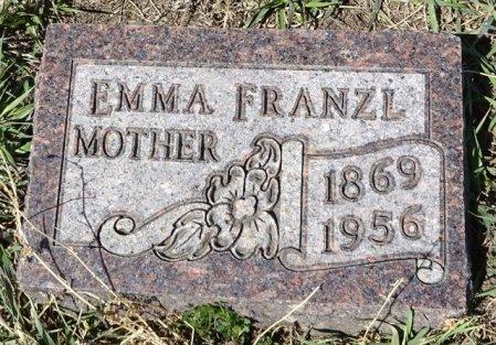 FRANZL, EMMA - Jones County, South Dakota   EMMA FRANZL - South Dakota Gravestone Photos
