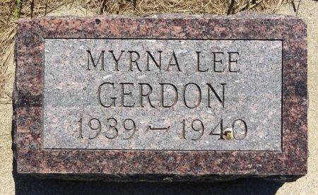 GERDON, MYRNA - Jones County, South Dakota | MYRNA GERDON - South Dakota Gravestone Photos