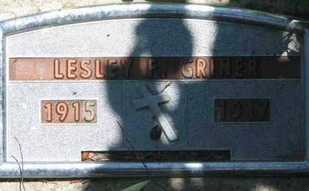 GRINER, LESLEY F. - Jones County, South Dakota | LESLEY F. GRINER - South Dakota Gravestone Photos