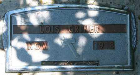 GRINER, LOIS - Jones County, South Dakota   LOIS GRINER - South Dakota Gravestone Photos